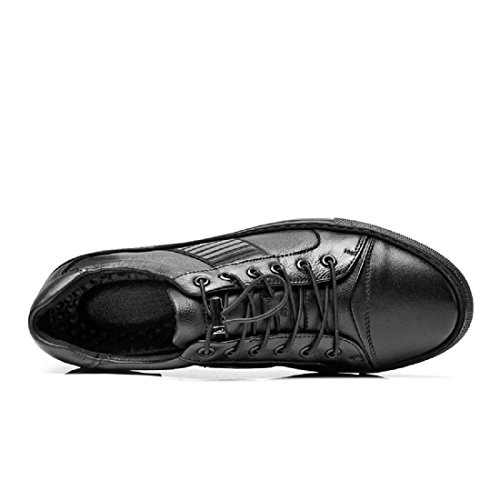 Mode Ballerines Pour Hommes Mode Sport Chaussures Formateurs Baskets Anti-slip Respirant Euro Taille 38-44 Noir