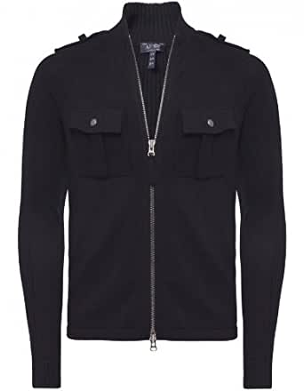 Armani Jeans Sweater Navy Lightweight Zip Knitted Cardigan XXL