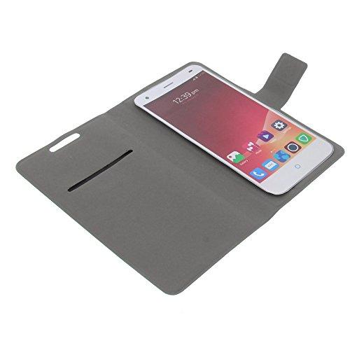 Tasche für ZTE Blade VEC 3G Blade VEC 4G Blade S6 Book Style ultra-dünn Schutz Hülle Buch schwarz