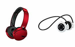 MIRZA Extra Bass XB 650 Headphones & Bluetooth Headset for SONY xperia E4 dual(XB 650 Headphones,With MIC,Extra Bass,Headset,Sports Headset,Wired Headset & Mini 503 Bluetooth Headset,With MIC,Sports Headset,Gym Headset )