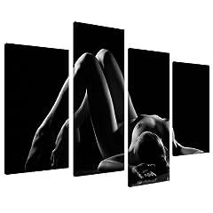 Idea Regalo - Tela artistica da parete, erotica, per camera da letto, colore: bianco e nero, misura XL, 4082