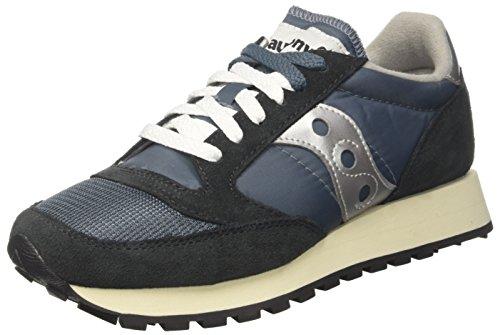 Saucony jazz original vintage, sneaker unisex – adulto, blu (blue/navy/ silver 4), 43 eu