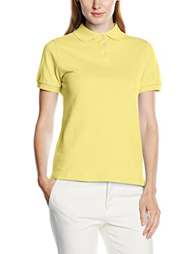 Intimuse Damen Poloshirt, Kurzarm, Gelb (Gelb 041), Medium