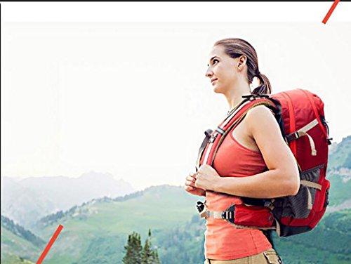 HWLXBB Outdoor Bergsteigen Tasche Multifunktions Rucksack Umhängetasche Wandern Tasche Outdoor Ausrüstung Männer und Frauen Outdoor Paket Bergsteigen Tasche 40L Rucksack Rot