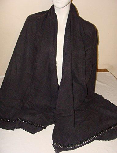 john-lewis-womens-chain-leather-trim-wrap-dark-grey-rrp-35