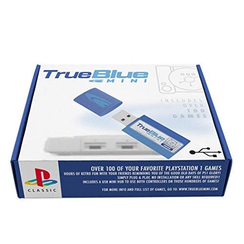 Polai True Blue Mini Crackhead Pack für Playstation Classic mit 101 Spiele 64G