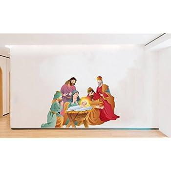 Rawpockets 'Lord Jesus Born Story' Wall Sticker (PVC Vinyl, 0.99 cm x 89.99 cm x 59.99 cm)