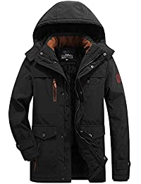 Winterjacke Herren ASHOP Winter Parka Multi-Taschen Wintermantel Männliche  Kragen Kapuze Dicke Warme Mantel Kapuzenpullover bf49bb4c98