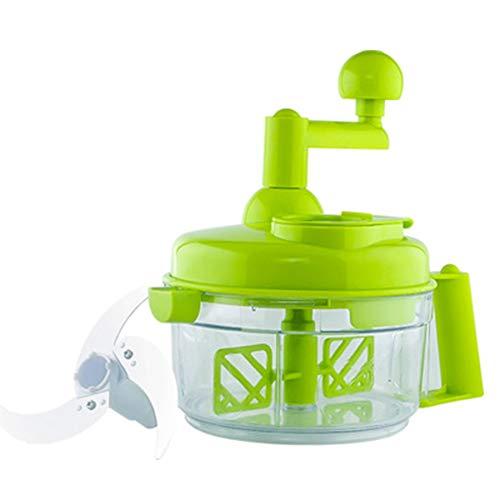 Multifunktions-manuelle Küchenmaschine Home Fleisch-Brecher-Maschine, Ei-Brecher-Maschine/Lebensmittel-Brecher/Kochwerkzeug (grün)