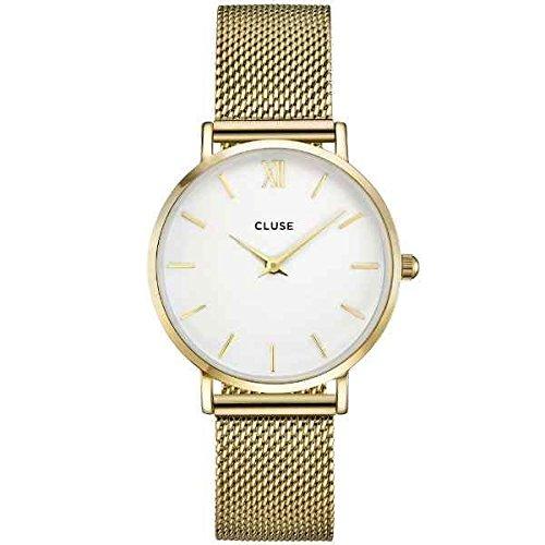 Cluse orologio da uomo analogico al quarzo con cinturino in acciaio inox - cl30010