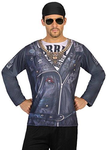 Imagen de camiseta disfraz de motero para hombre