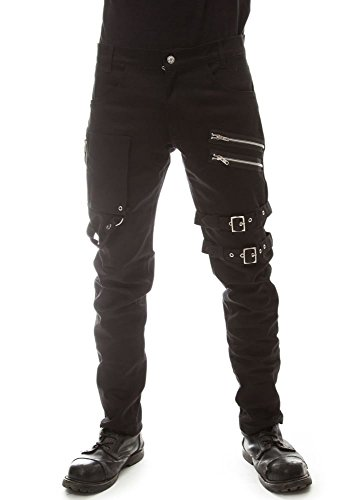 Vixxsin -  Pantaloni  - Uomo Black Medium