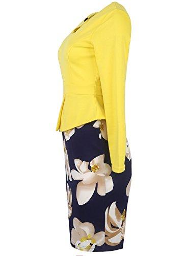 CoCo fashion - Robe - Cocktail - Femme Jaune