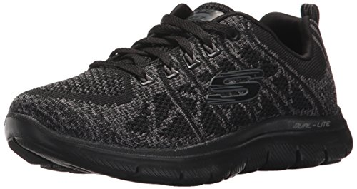 Skechers Damen Flex Appeal 2.0-New Gem Ausbilder - Schwarz (Black/charcoal) , 39.5 EU -
