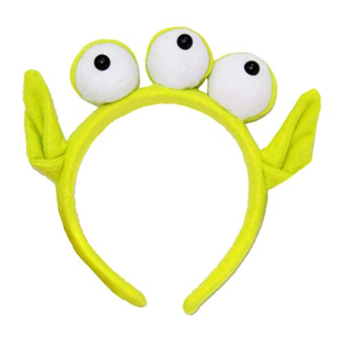 Lurrose Green Monster Stirnband pelzigen Alien Haarband mit -