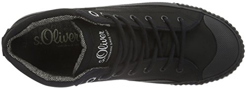 s.Oliver Herren 15222 High-Top Schwarz (Black 001)