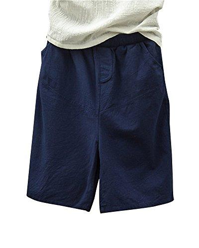 Runyue pantaloncini basic in cotone da donna bermuda estivi elastica e confortevoli pantaloni chino corti marina militare onesize