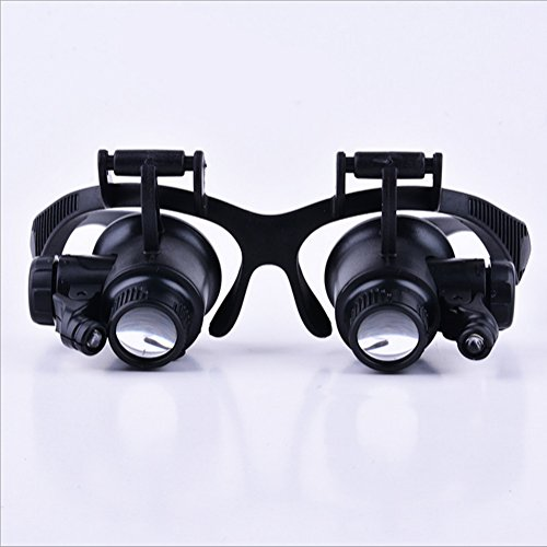 Miaozaigou Brille-Typ Lupe mit LED-Lampe Uhr Reparatur Reading Lupe Chirurgie Lupe