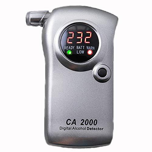 NACHEN Digitaler professioneller Alkoholtester Alkoholtester Tester LCD Display,Silver,60x120x25mm