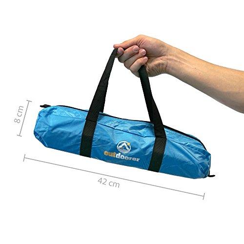 Outdoorer Strandmuschel Helios, blau, UV 60, extra leicht, Minipackmaß - 5