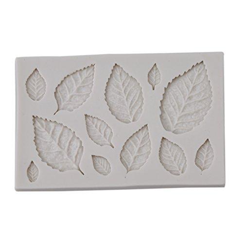 LnLyin Weiße Blätter Kuchen Fondant Froschform Silica Cake Mold Kuchen-Modell Baking Mold DIY Candy Cake Mould Tools