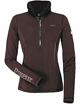 Pikeur Rosalia Premium 1/4zip top–BlackBerry