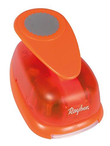 Rayher Hobby 8964200 Motivstanzer Rund/Kreis, mit Zierrand, ø 5,08 cm- 2 Zoll, geeignet für Papier/Karton bis zu 200g/m²
