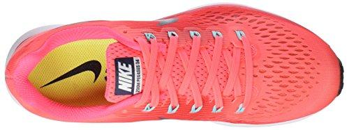 Nike Damen Wmns Air Zoom Pegasus 34 Laufschuhe Pink (Hot Punch/thunder Blue/siren Red/lt Aqua/white/black)