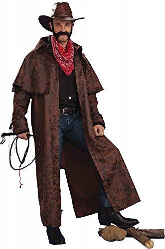 shoperama Cappotto per costume da cowboy, da uomo, in Tex, stile western