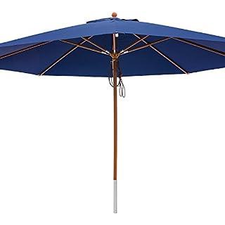 anndora® Sonnenschirm Marktschirm Gastronomie ø 4 m rund UV-Schutz - mit Winddach Navy Blau