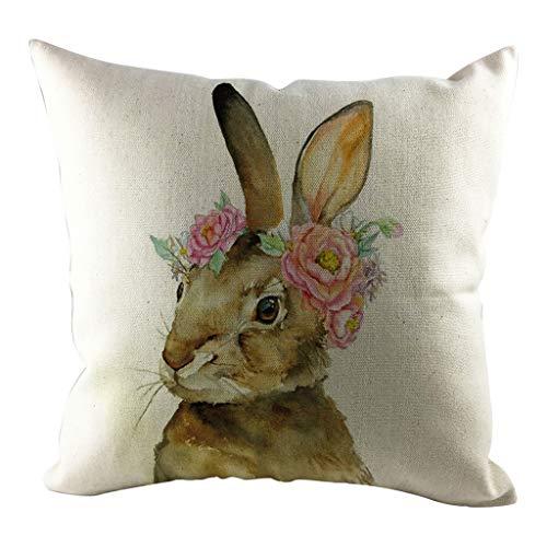 1 stücke Ostern Schlafsofa Dekoration Festival Kissenhülle Cartoon Kaninchen Kissenbezug URIBAKY