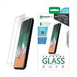 قطعتان من شاشة الحماية من الزجاج المقوى فائق الوضوح من اميزنج ثينج لموبايل ايفون X مع مجموعة ادوات تثبيت/حامل للتثبيت - زجاج