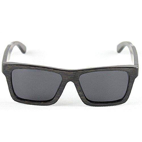 Herren Outdoor Freizeit Persönlichkeit Retro Bamboo Herren Sonnenbrille Handmade Square Wooden Polarized Sonnenbrille UV-Schutz Sonnenbrille Driving Sonnenbrille Strand Sonnenbrille (Farbe: