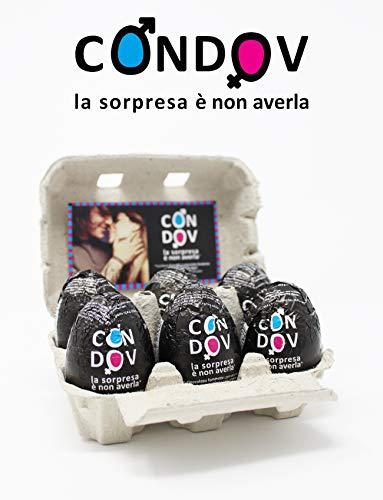 Eurochocolate CONDOV Ovetto Fondente con Preservativo aroma Cioccolato Confezione 6 pz.