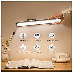 Semlos Stufenlos Dimmbares LED Streifenlicht, Wiederaufladbare Buchleselampe im Schlafsaal zur Berührungssteuerung für das Arbeitszimmer am Bett