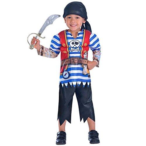 amscan 9903357 Kostüm, Red, Blue, White, Black, 5-7 Jahre (Kostüm Matey Ahoy)