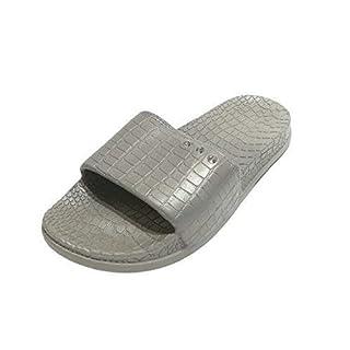 Linea Scarpa Ameland Beach Shoes Ladies fußbett-Pantolette Croc Effect - Grey, 41/42 EU (XL)
