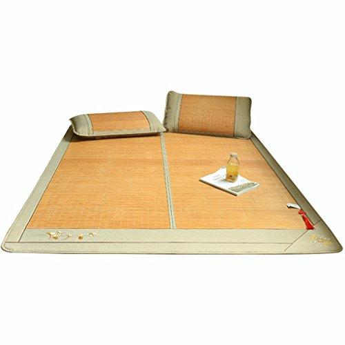 Liuyu · Tapis en bambou double face 1,8 m lit pliant 1,5 mètre Dortoir étudiant simple 1,2 Tapis climatisation été Trois ensembles de tapis (avec taie d'oreiller) 1 glace sans bavure 2 Duplex disponib