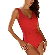 Mujer Bikini Push Up Monokini Elegante Verano Casual Lunares Una Sola Pieza Bañadores Ropa Fiesta Modernas