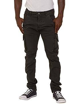 Pantalón cargo para hombre Gris Multibolsillos Pantalones Combats RYANGREY