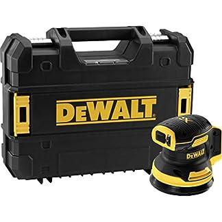 DeWALT DCW210NT-XJ – Lijadora excéntrica inalámbrica (18 V, base), color negro y amarillo