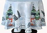 Kamaca Serie Frosty Snowman Hochwertiges Druck-Motiv - EIN Schmuckstück zu Winter Weihnachten (Tischdecke 150 cm rund)