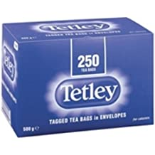 Tetley Individual String and Tag Tea Bags (Pack of 250)