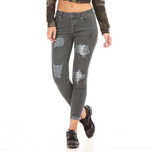 La Modeuse - Jeans coupe slim Kaki