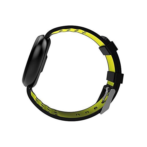 Jersh Electronic Smart WatchFitness Tracker Blood Pressure Heart Rate Activity Tracker Smart Sports Watch Round Dial Analogue Display Multifunction Fashion Bluetooth Smart Bracelet