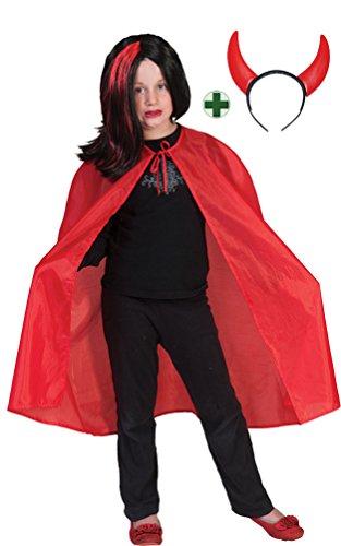 Karneval Klamotten Teufel Kostüm Kinder Halloween Teufel INKL Teufelshörner Kinderkostüm 110