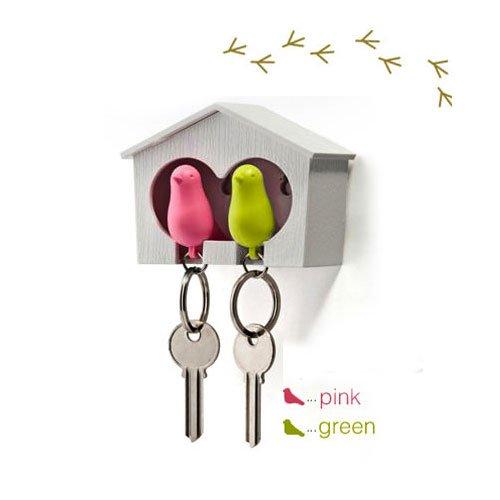 duo-wood-house-sparrow-bird-key-ring-key-holder-whistle-green-pink-bird