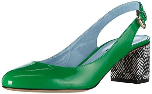 Pollini Damen Scarpad.dd Sq3 / 55 Vern.verd / Dom.bn Bombas Grün (85a Patente Couro Verde-branco-preto Dominó Pvc)