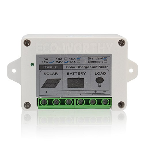 KUNSE 15A 12V/24V Solar Charge Controller for High Power 100W Solar Panel Kits