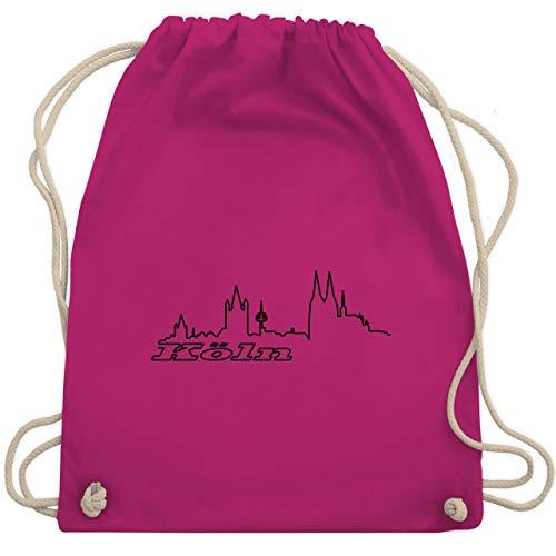 Skyline - Köln Skyline - Unisize - Fuchsia - WM110 - Turnbeutel & Gym Bag